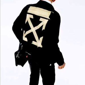 NWT black ! Off-white! Jacket! Tape Jacket rare!